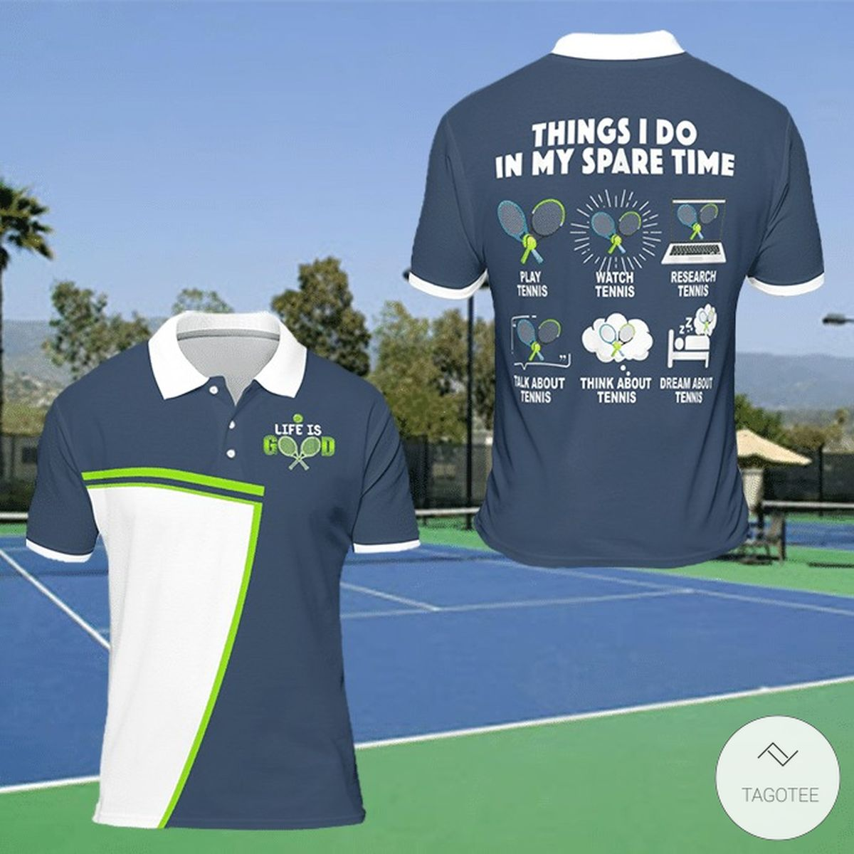 Things I Do In My Spare Time Play Tennis Watch Tennis Research Tennis Polo Shirt