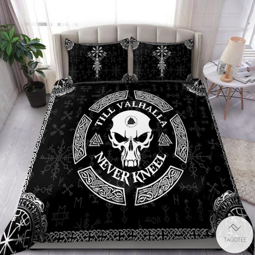Till Valhalla Never Kneel Bedding Set