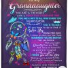 To My Granddaughter You Are A Treasure With A Heart That Is Kind And True Love Your Grandma Fleece Blanket