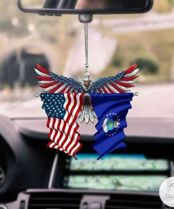 US Air Force And United States Eagle Flag Car Hanging Ornament