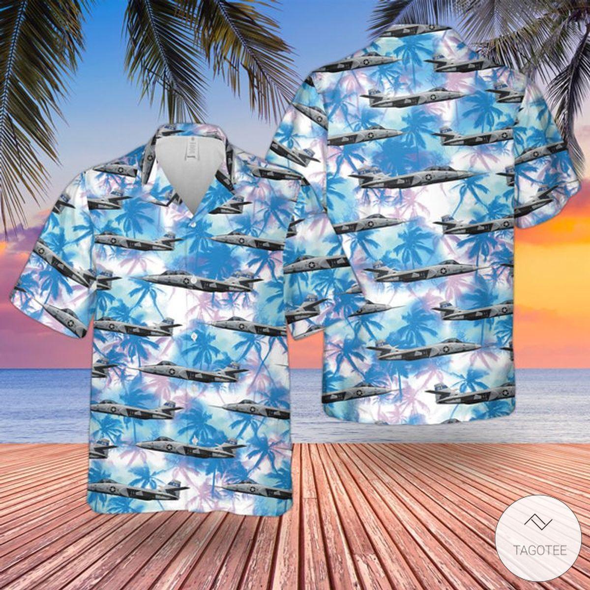 US Air Force Northrop YA-9 Hawaiian Shirt, Beach Shorts