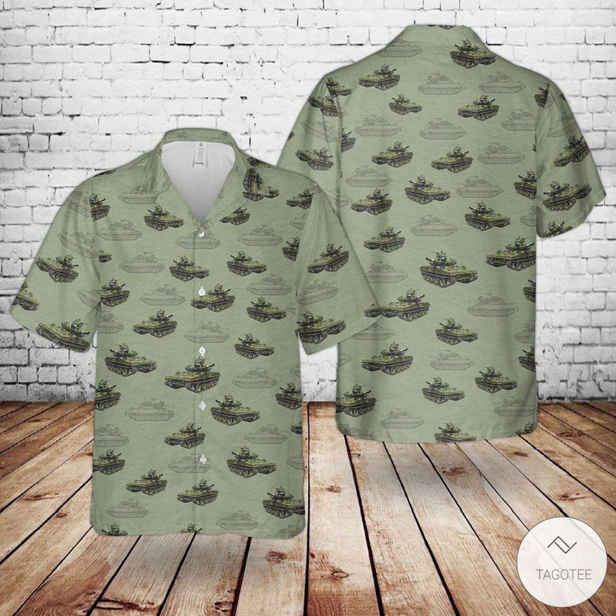 US Army M551 Sheridan Tank Hawaiian Shirt, Beach Shorts