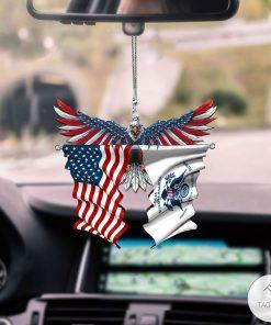 US Coast Guard And United States Eagle Flag Car Hanging Ornament