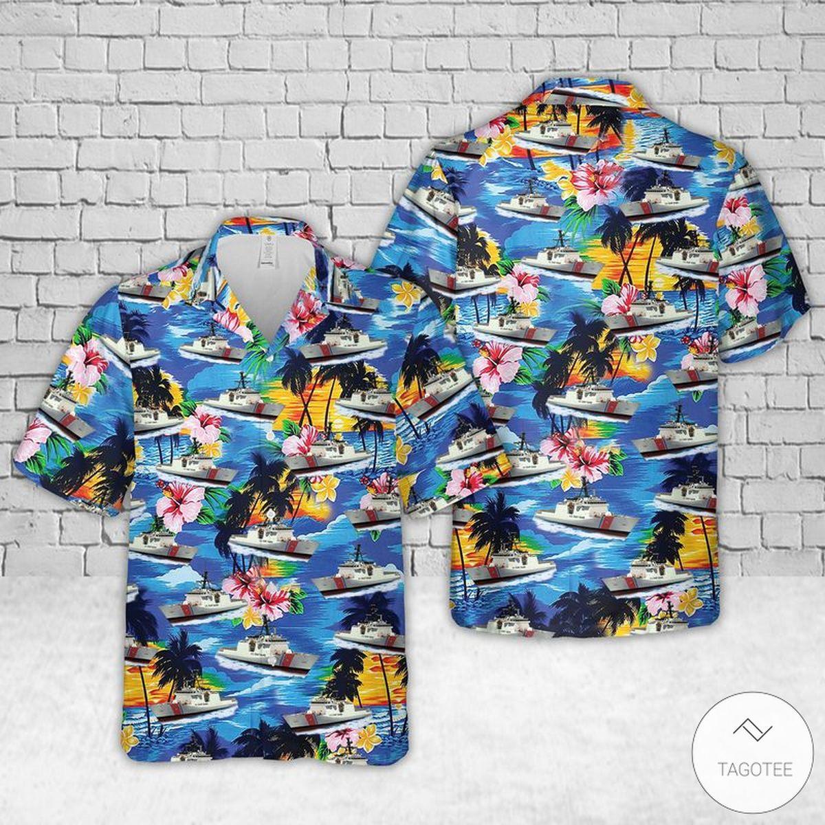 US Coast Guard USCGC Bertholf Hawaiian Shirt, Beach Shorts