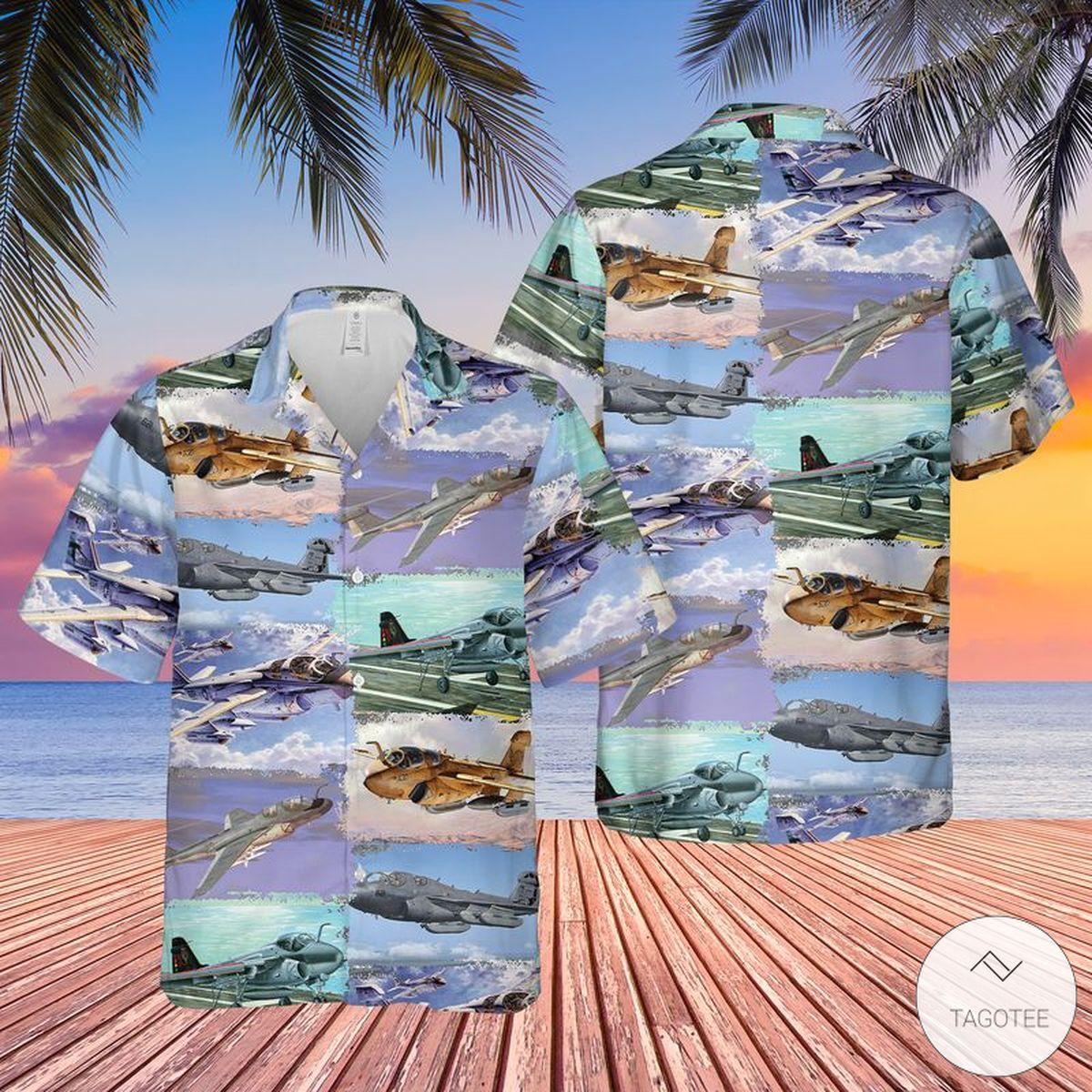 US Navy Northrop Grumman EA-6B Prowler Hawaiian Shirt, Beach Shorts