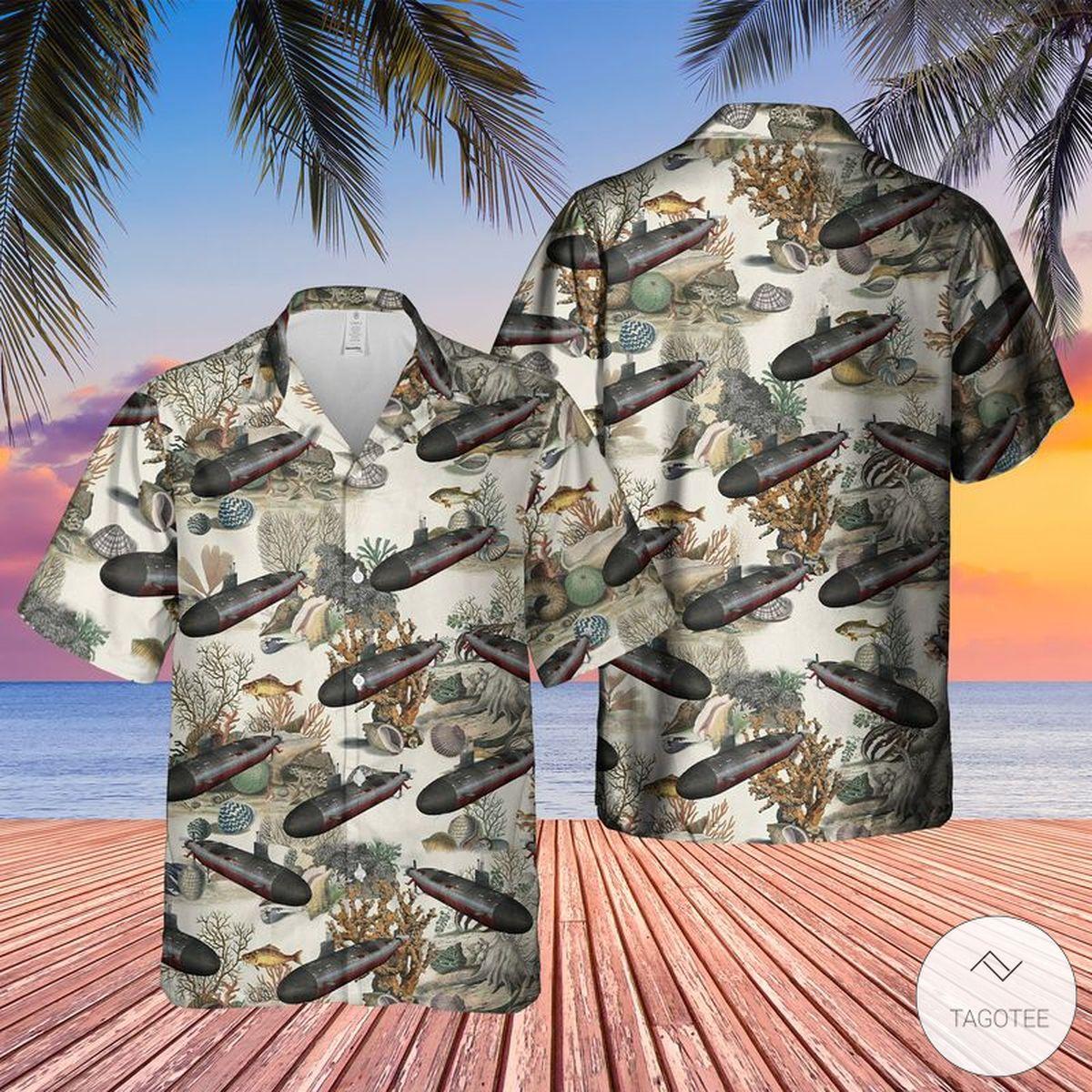 US Navy USS Connecticut SSN 22 Hawaiian Shirt