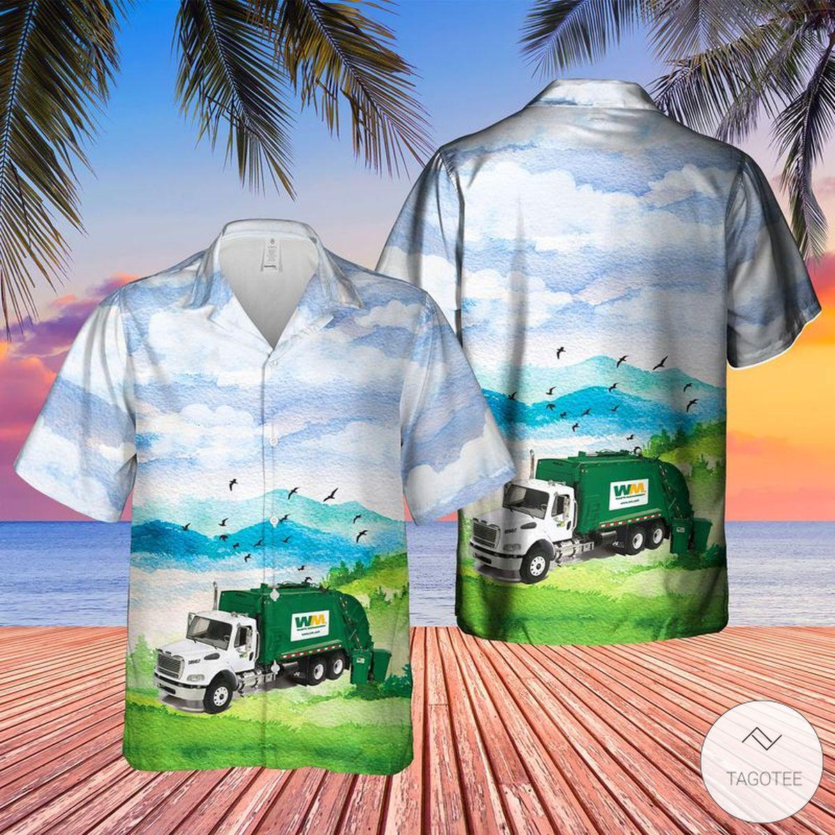 US Waste Management Garbage Roll-off Hawaiian Shirt