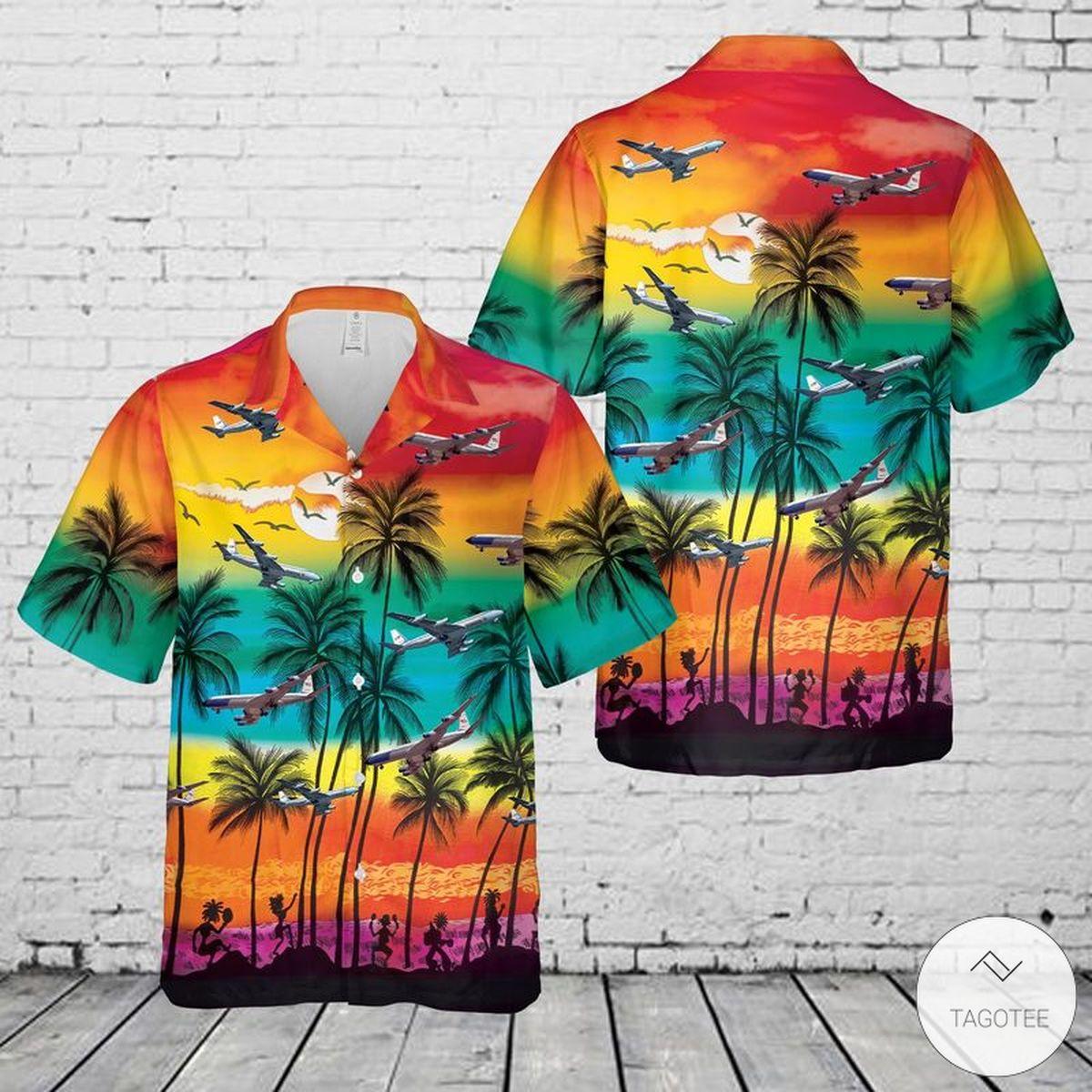 USAF Boeing VC-137 Hawaiian Shirt, Beach Shorts