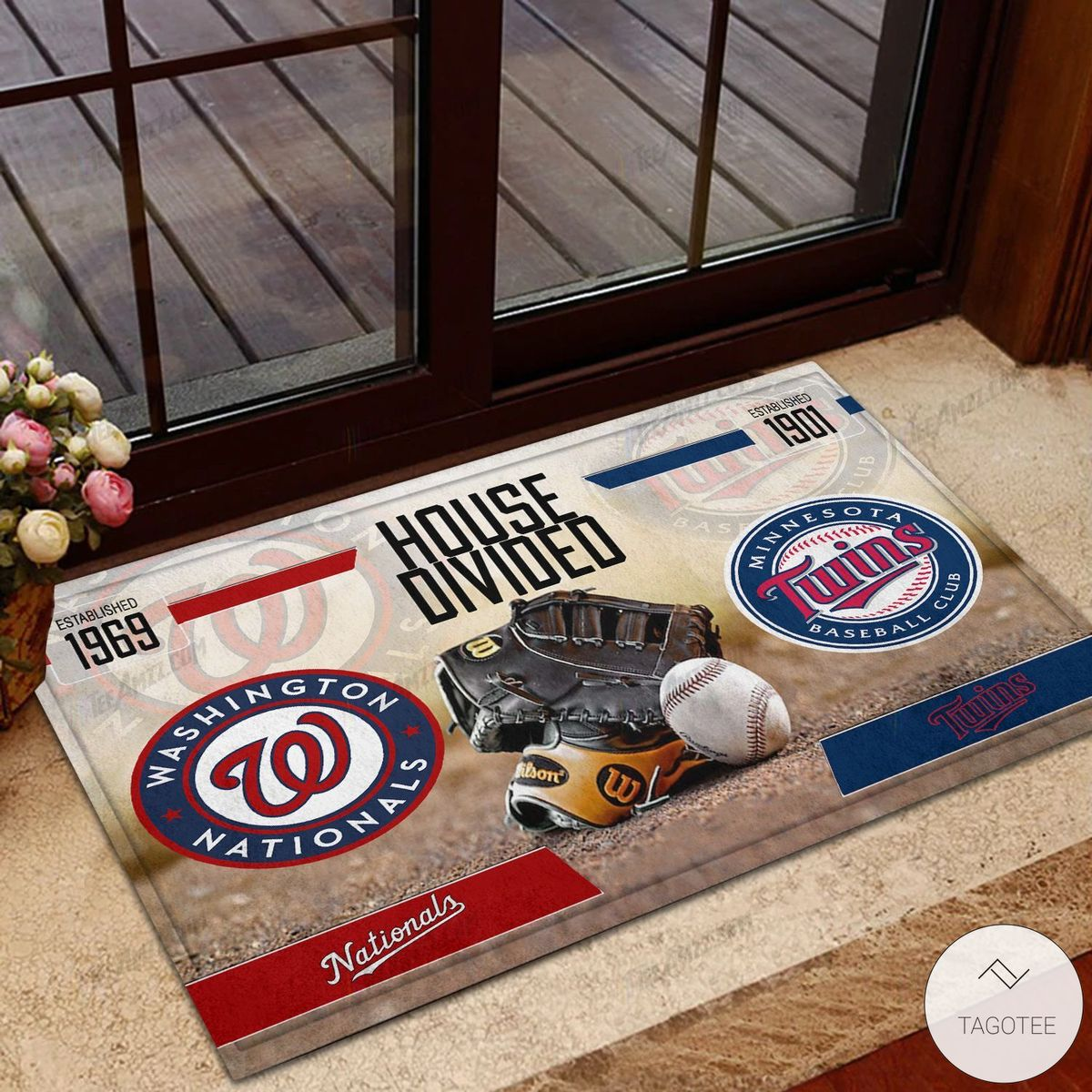 Washington Nationals House Divided Minnesota Twins Doormat