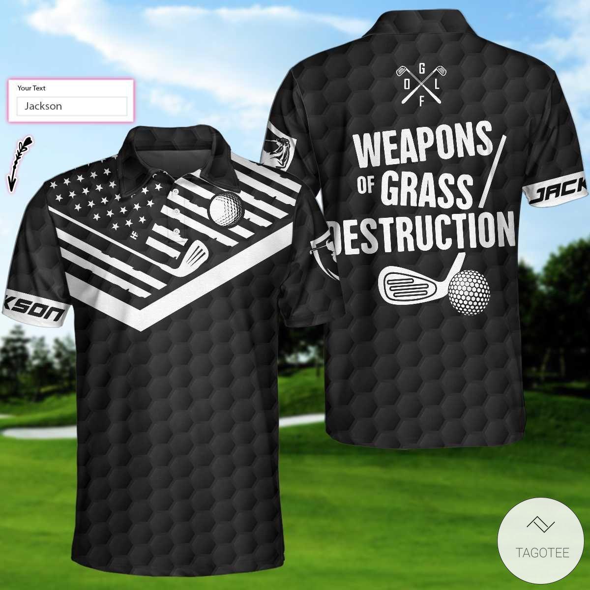 Amazon Weapons Of Grass Destruction Golf Polo Shirt