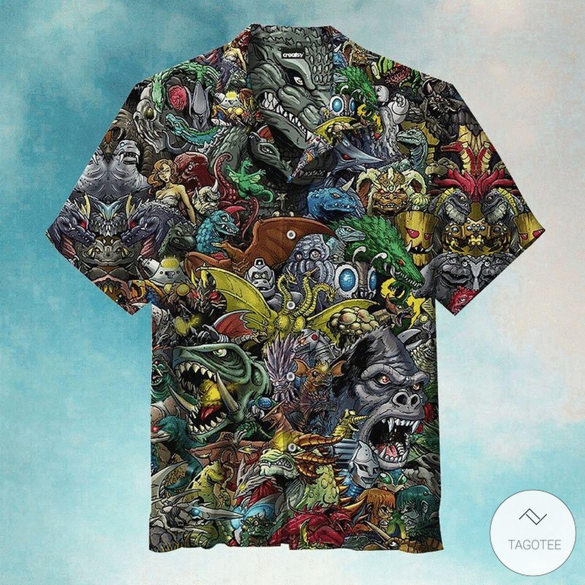 Amazing Welcome To The World Of Godzilla Hawaiian Shirt