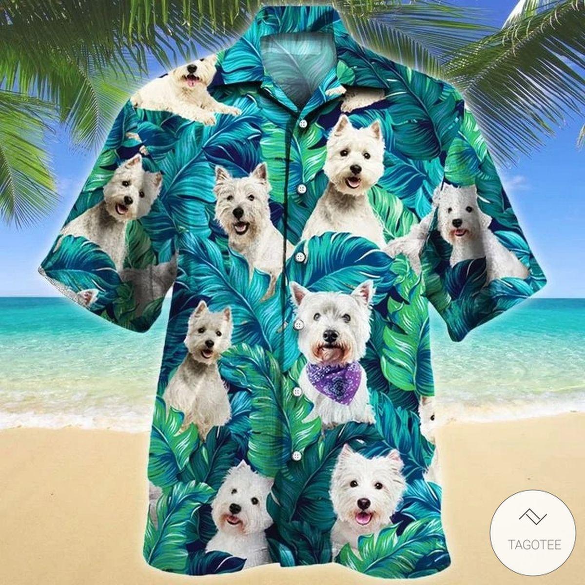 West Highland White Terrier Dog Hawaiian Shirt