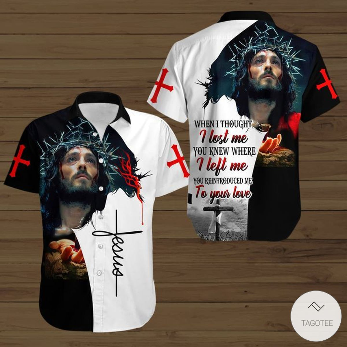 When I Thought I Lost Me You Know Where To Find Me Jesus Button Shirt