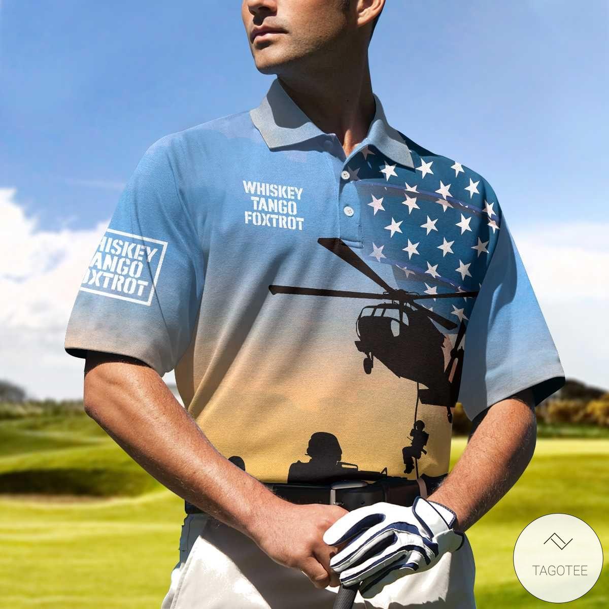 Whiskey Tango Foxtrot Military Polo Shirtx