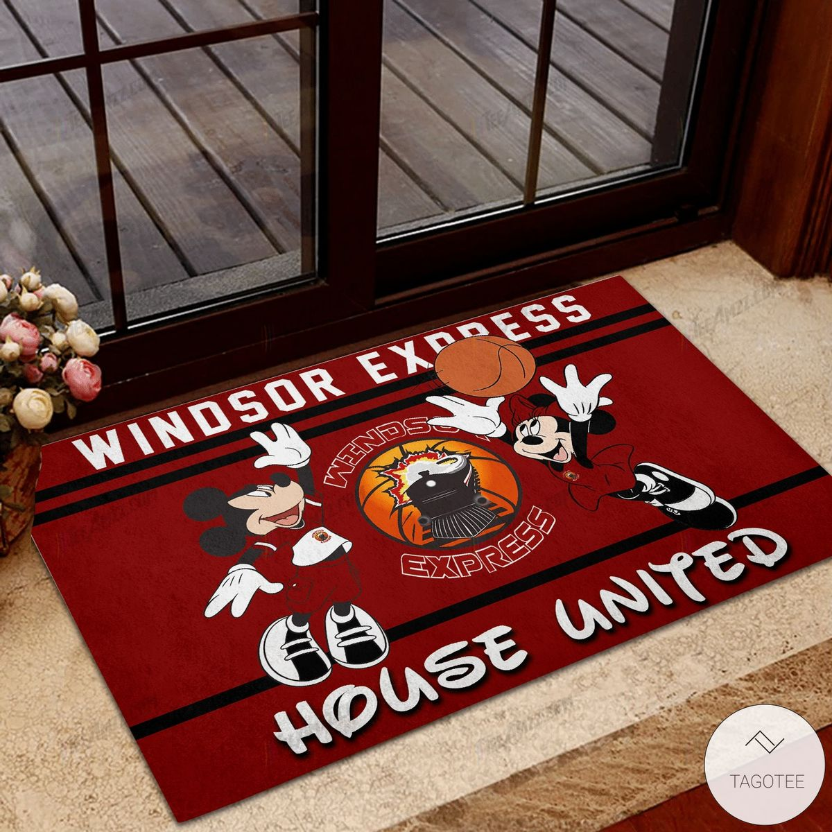 Windsor Express House United Mickey Mouse And Minnie Mouse Doormat