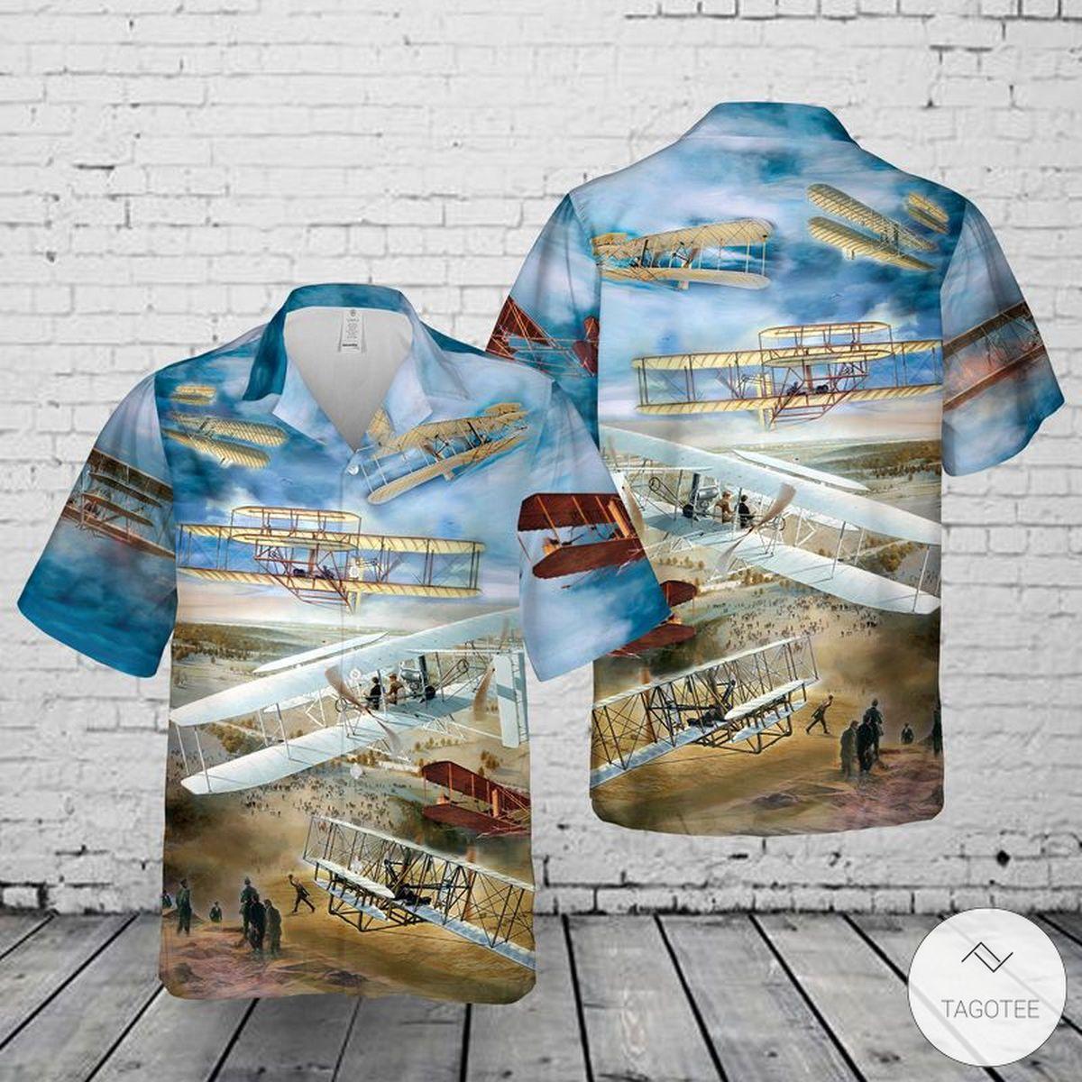 Wright Flyer Hawaiian Shirt, Beach Shorts