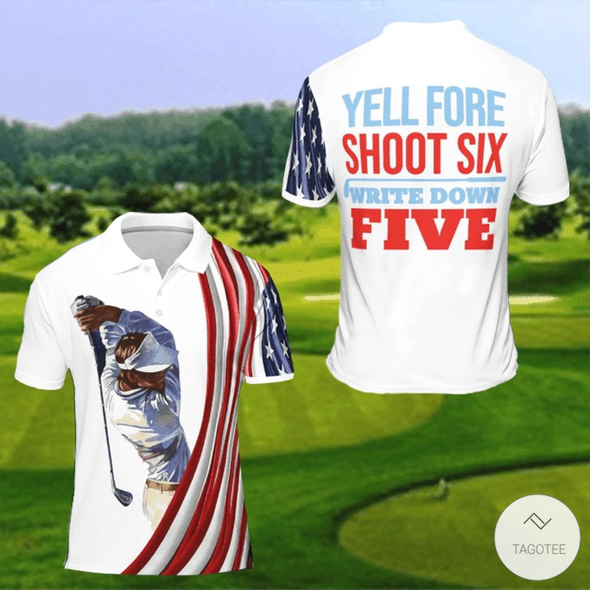 Yell Fore Shoot Six Write Down Five Polo Shirt