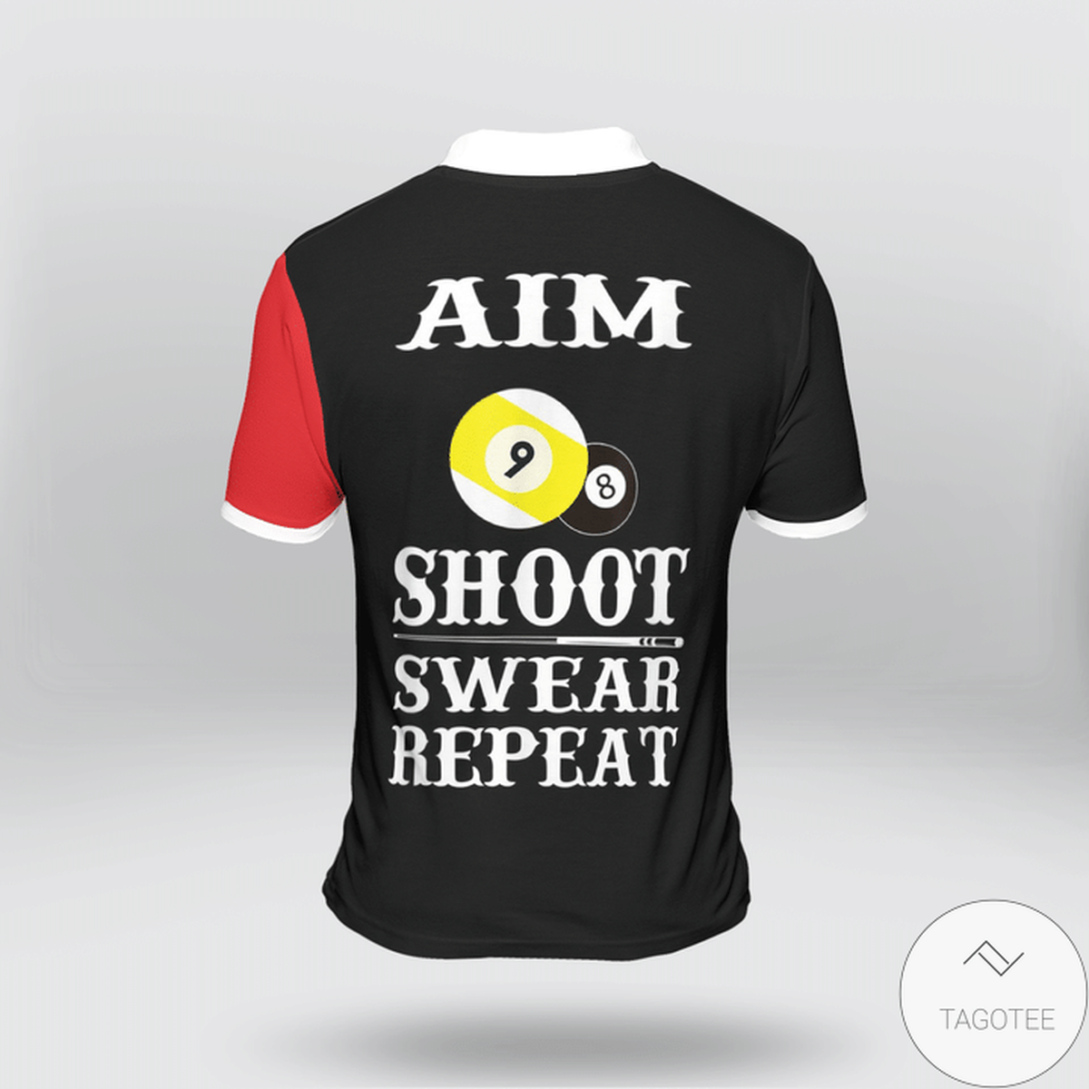 Aim Shoot Swear Repeat Billiard Polo Shirtz