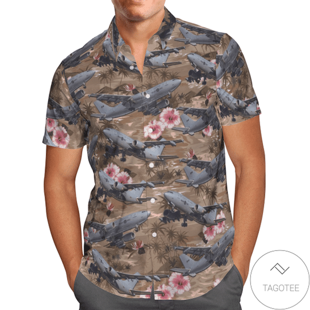 Airb us Cc-150 Polaris (A310-304(F) Vintage Hawaiian Shirt