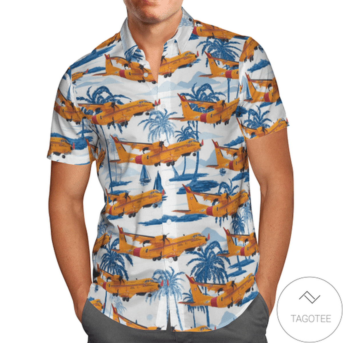 Airbus Cc-295 Sar Hawaiian Shirt
