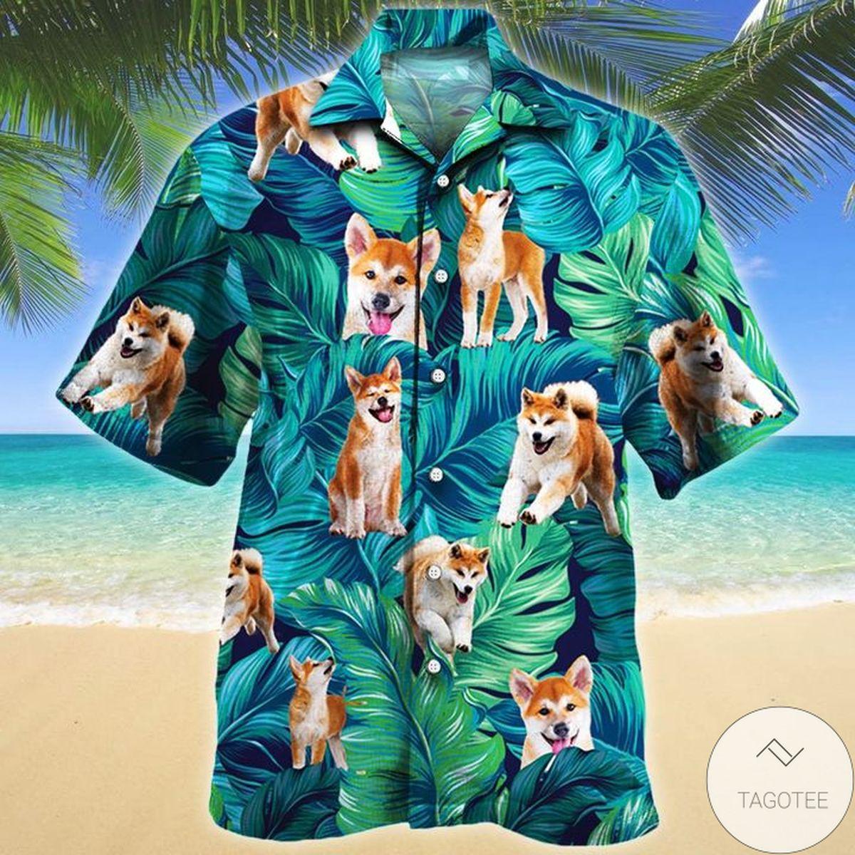 All Over Print Akita Dog Lovers Hawaiian Shirt