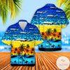 Alaska Airlines Boeing 737-990ER Hawaiian Shirt, Beach Shorts