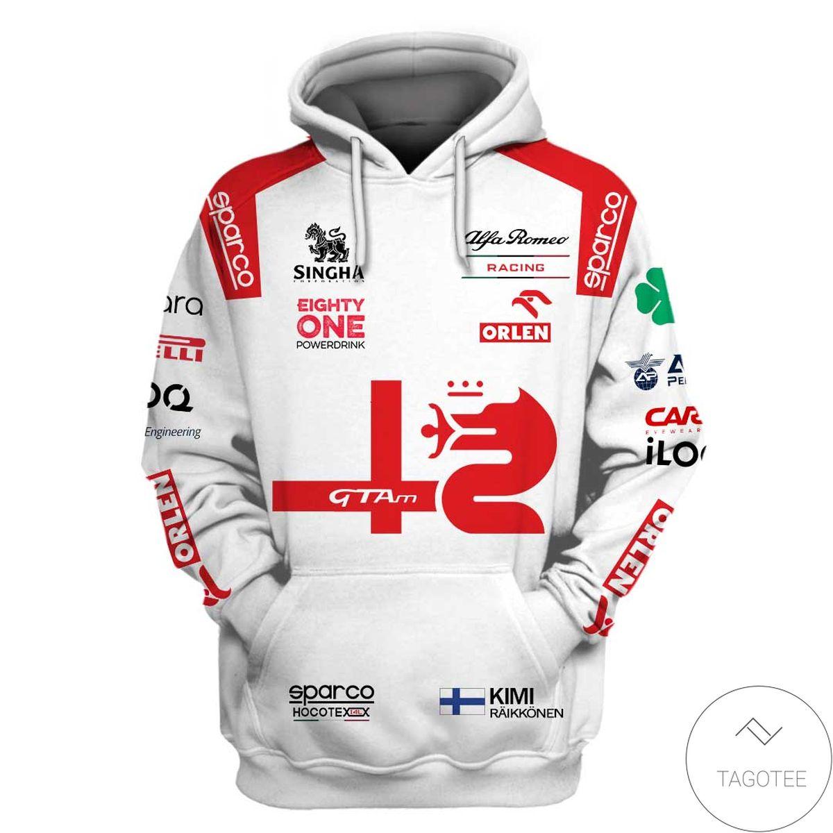 Alfa Romeo Racing C41 F1 3D Hoodie