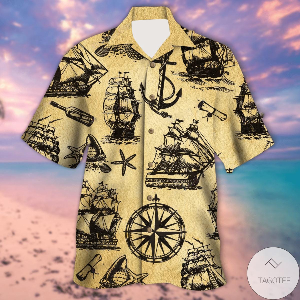 All About Pirate Ships Unisex Hawaiian Shirt