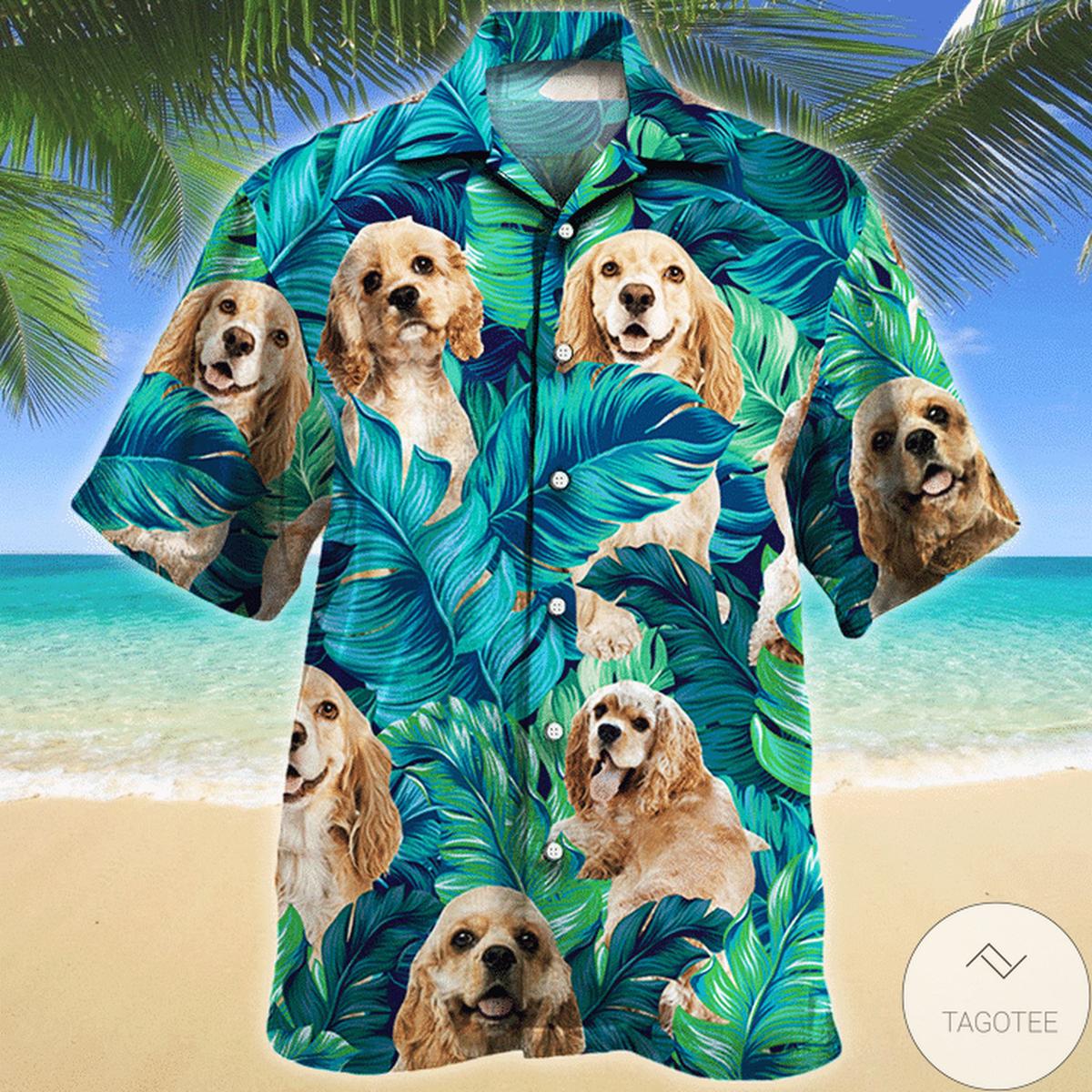 American Cocker Spaniel Dog Lovers Hawaiian Shirt