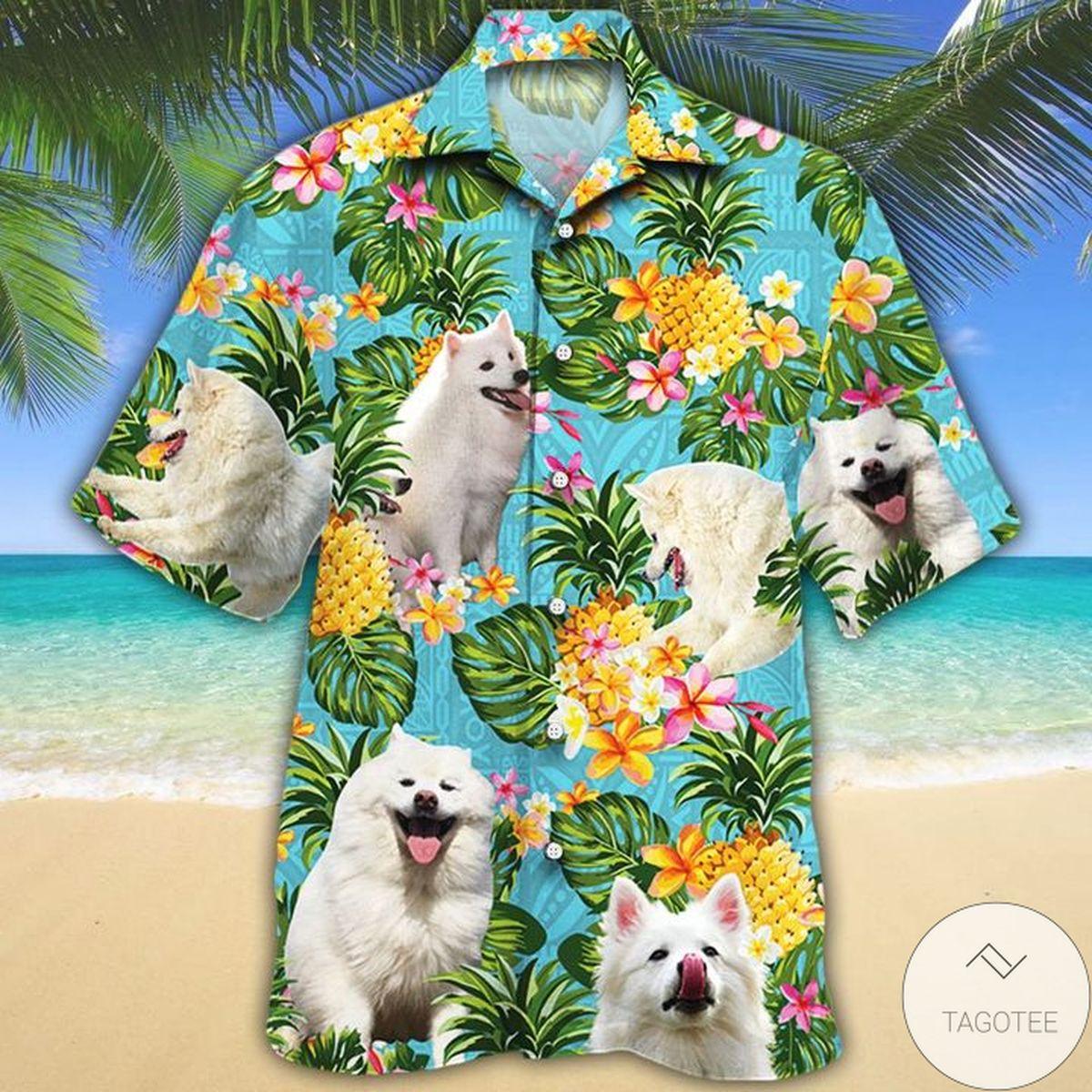 Amazon American Eskimo Dog Lovers Pineapple Hawaiian Shirt