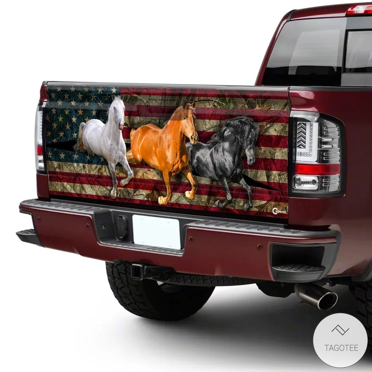 American Horses Running Tailgate Wrapc