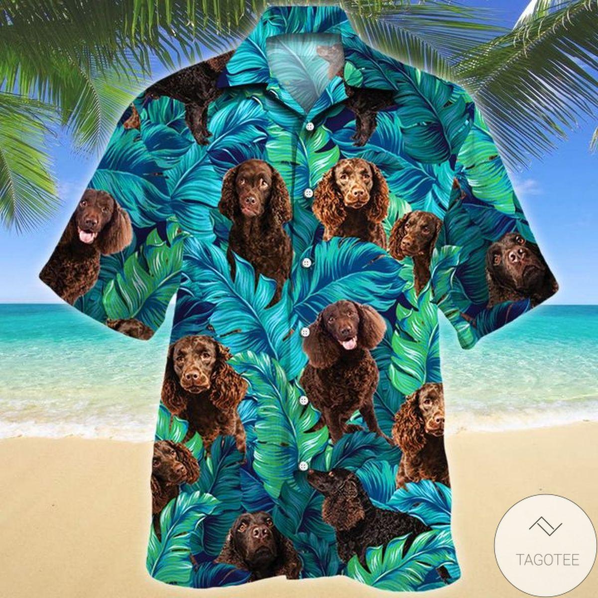 American Water Spaniel Dog Lovers Hawaiian Shirt