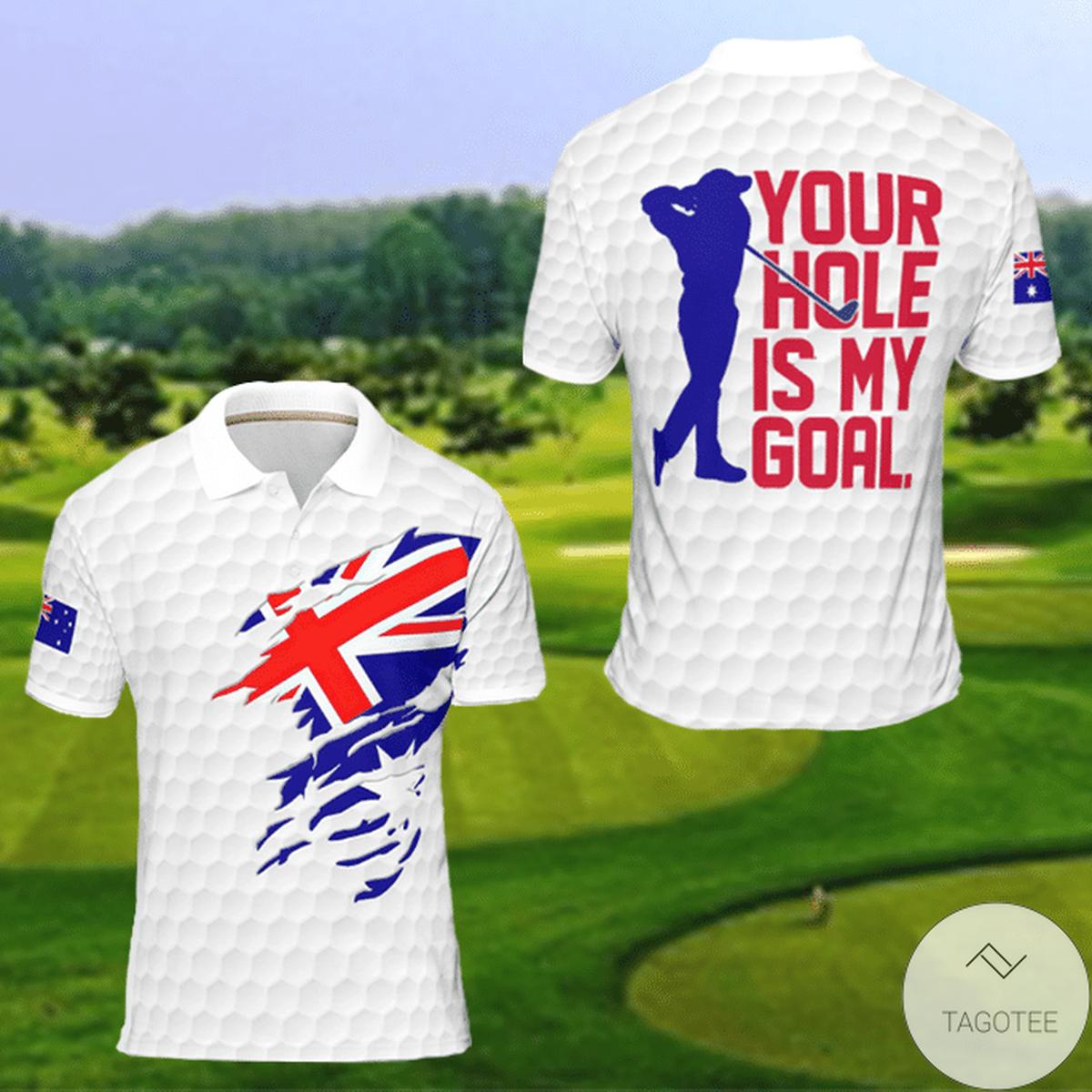 Australia Your Hole Is My Goal Golf Polo Shirt