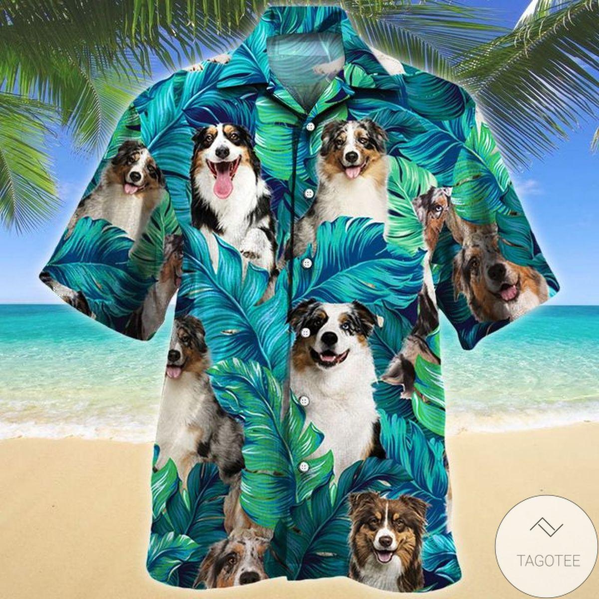 Unique Australian Shepherd Dog Lovers Hawaiian Shirt