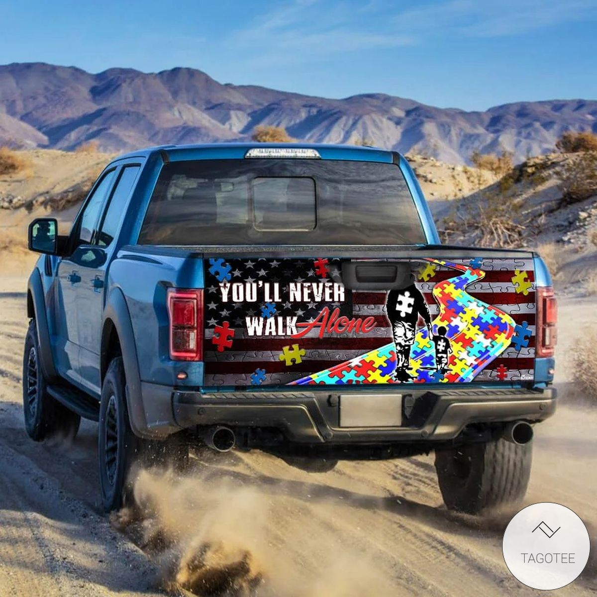 Autism Awareness You'll Never Walk Alone Tailgate Wrapz