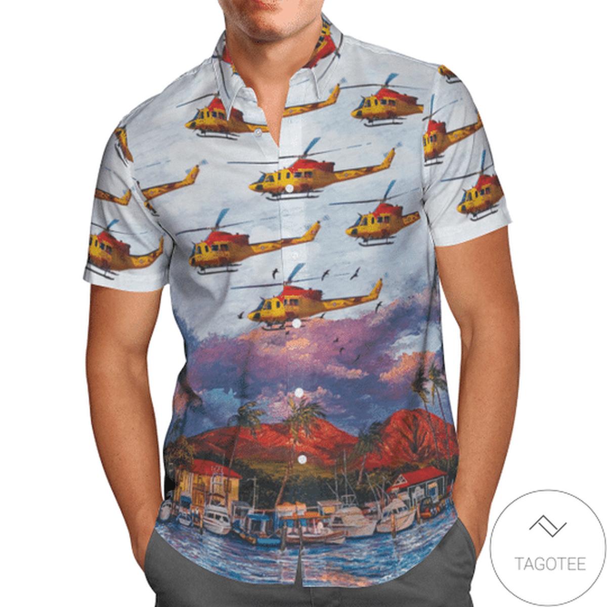 BELL CH-146 Griffon (412cf) Sar Hawaiian Shirt