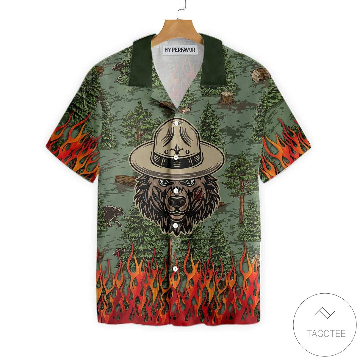 Bear Camping God Is Great Beer Is Good And People Are Crazy Hawaiian Shirt