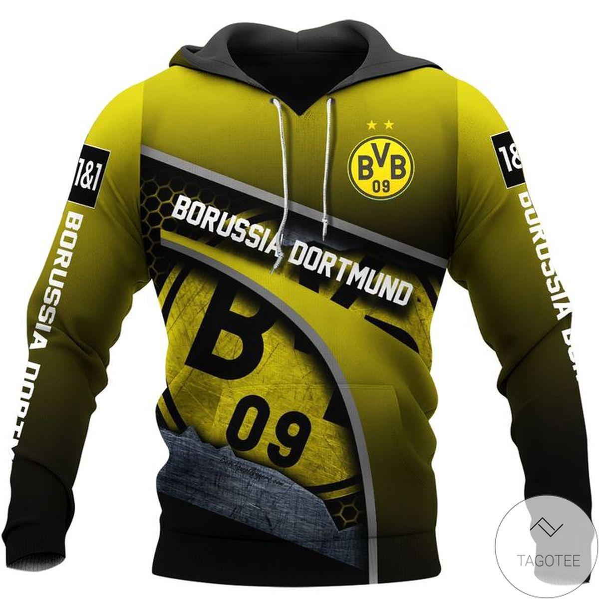 Borussia Dortmund 3D Hoodie