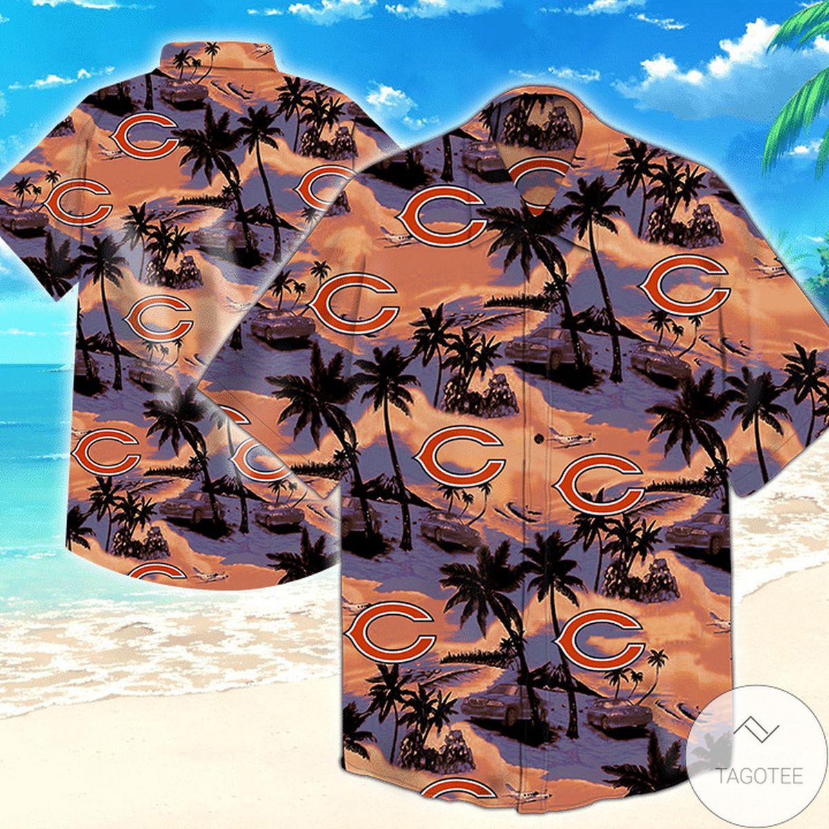Chicago Bears Nfl Tommy Bahama Hawaiian Shirt