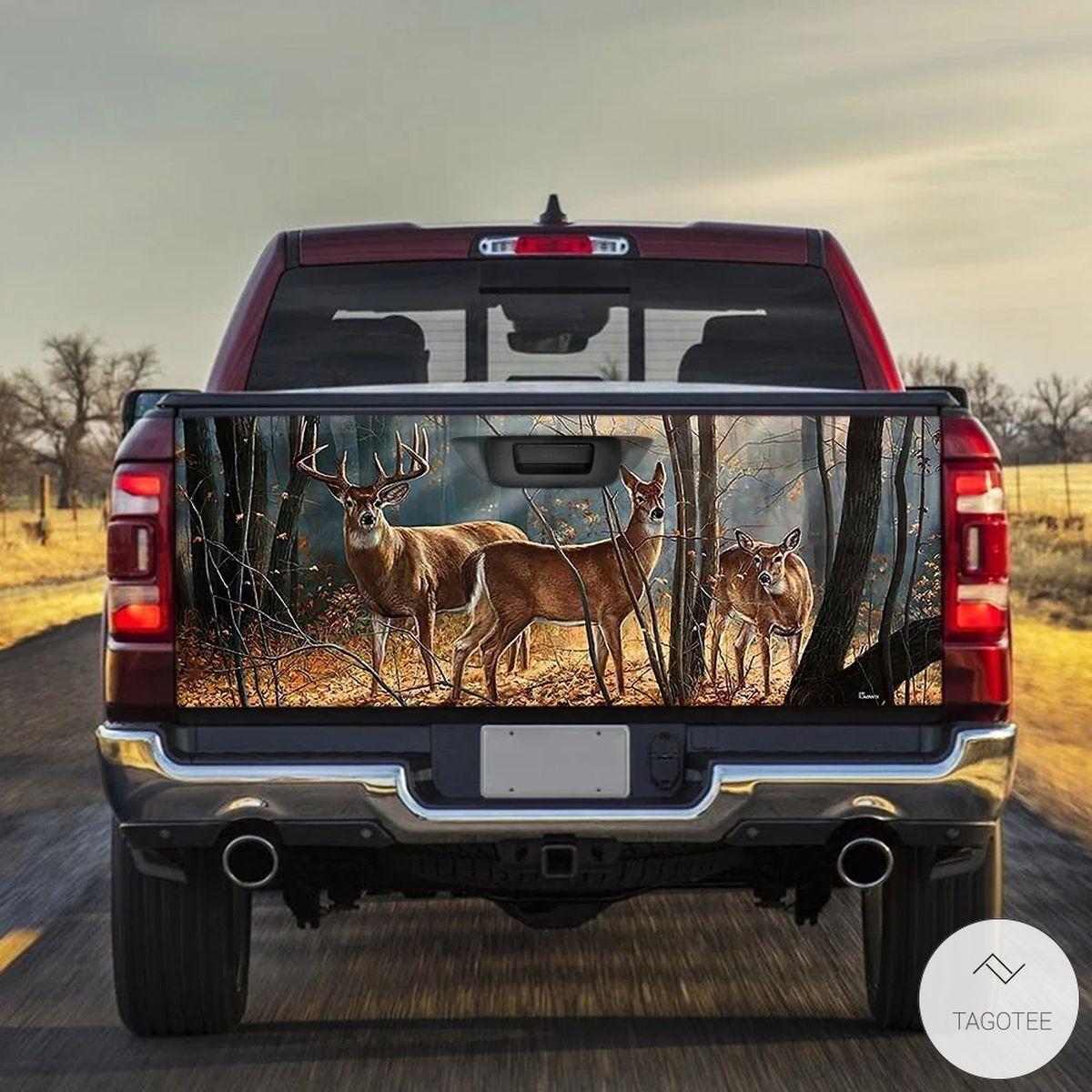 Deer Truck Tailgate Wrap