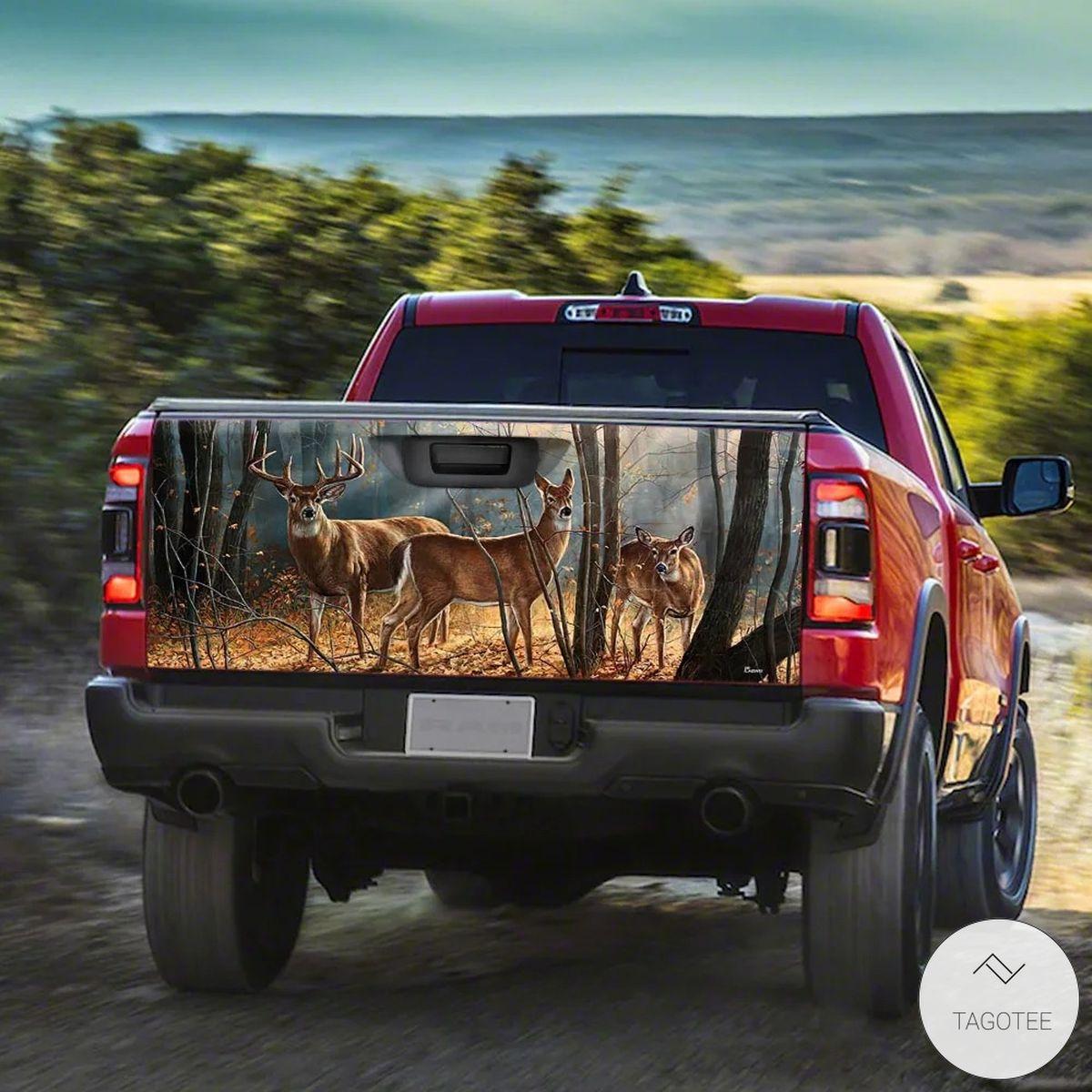 Only For Fan Deer Truck Tailgate Wrap