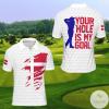 Denmark Your Hole Is My Golf Polo Shirt
