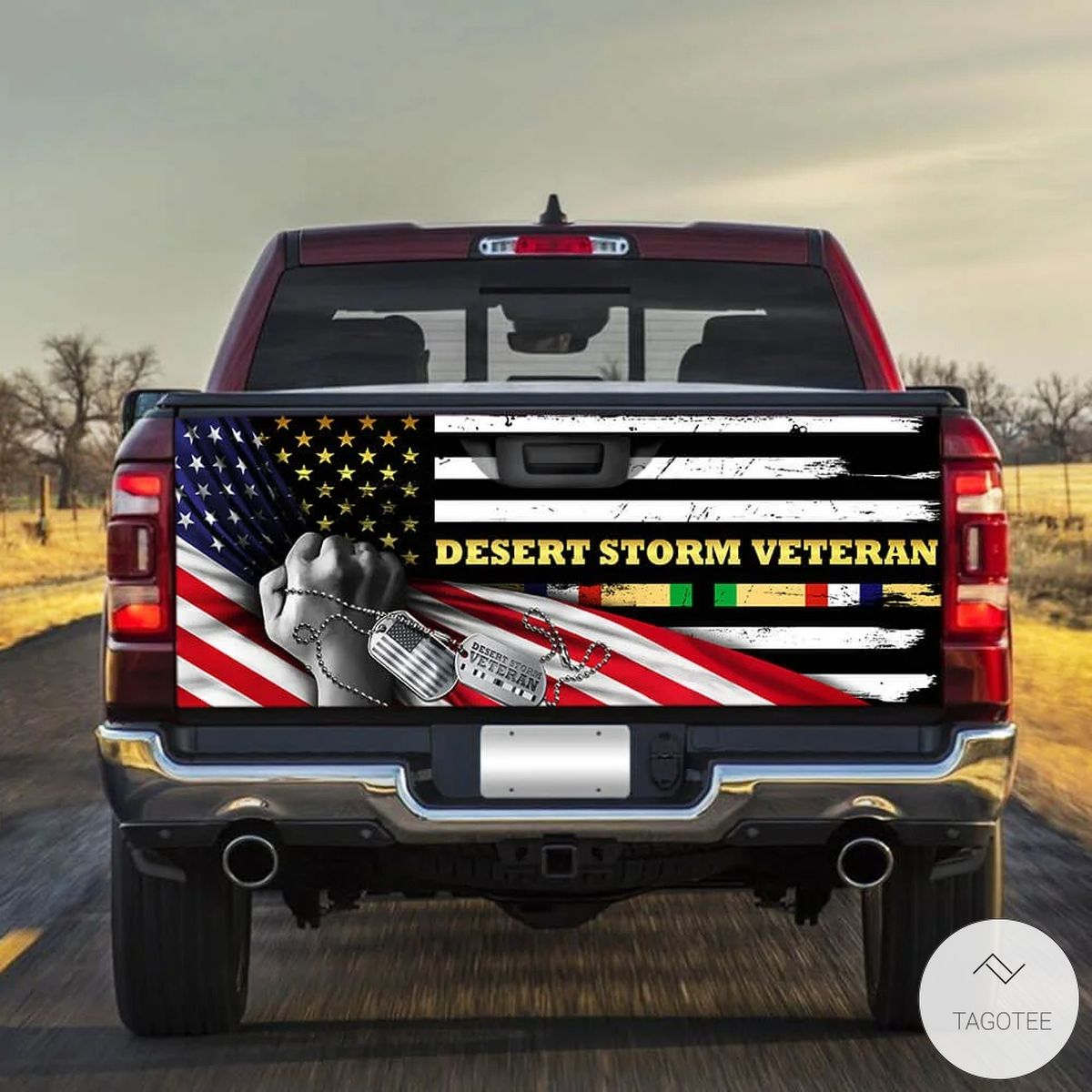 Desert Storm Veteran Tailgate Wrap