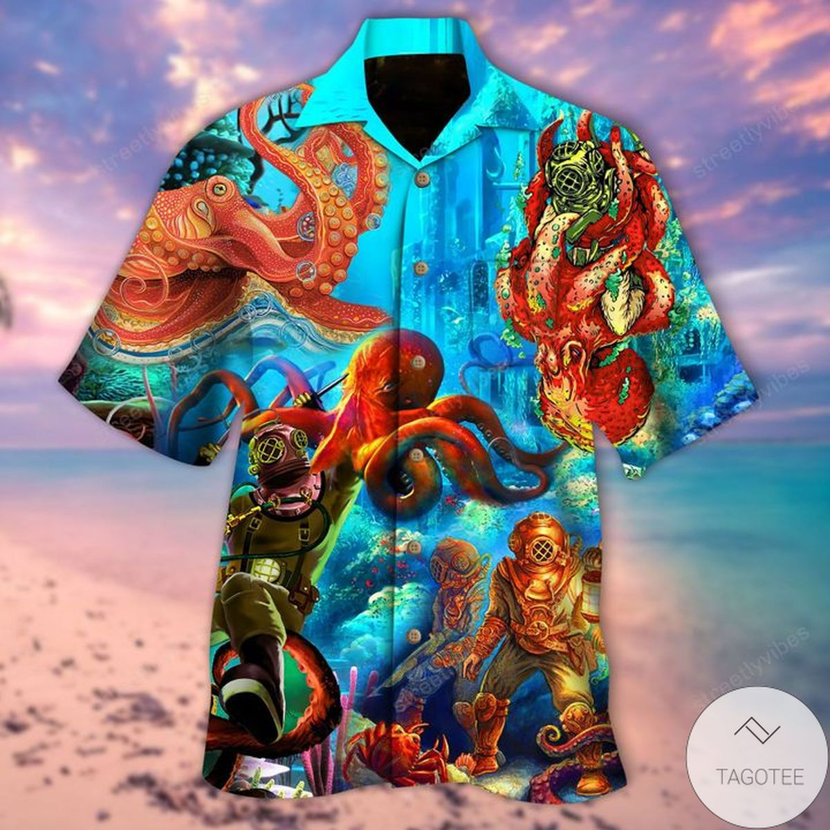 Diving I Love To Go Down Hawaiian Shirt