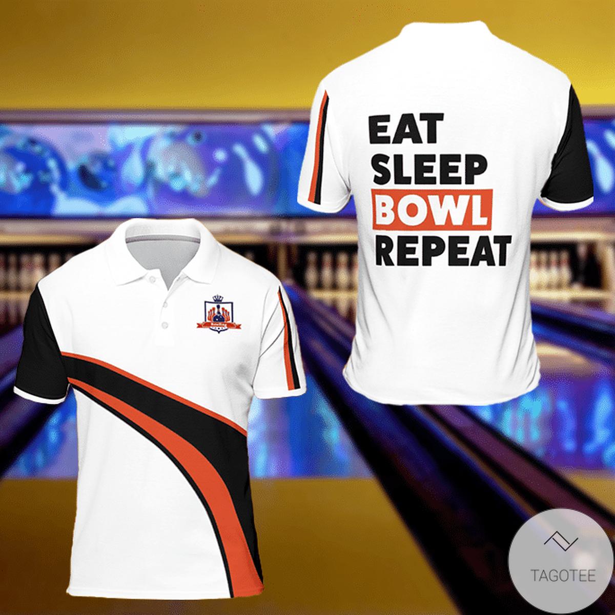 Limited Edition Eat Sleep Bowl Repeat Polo Shirt
