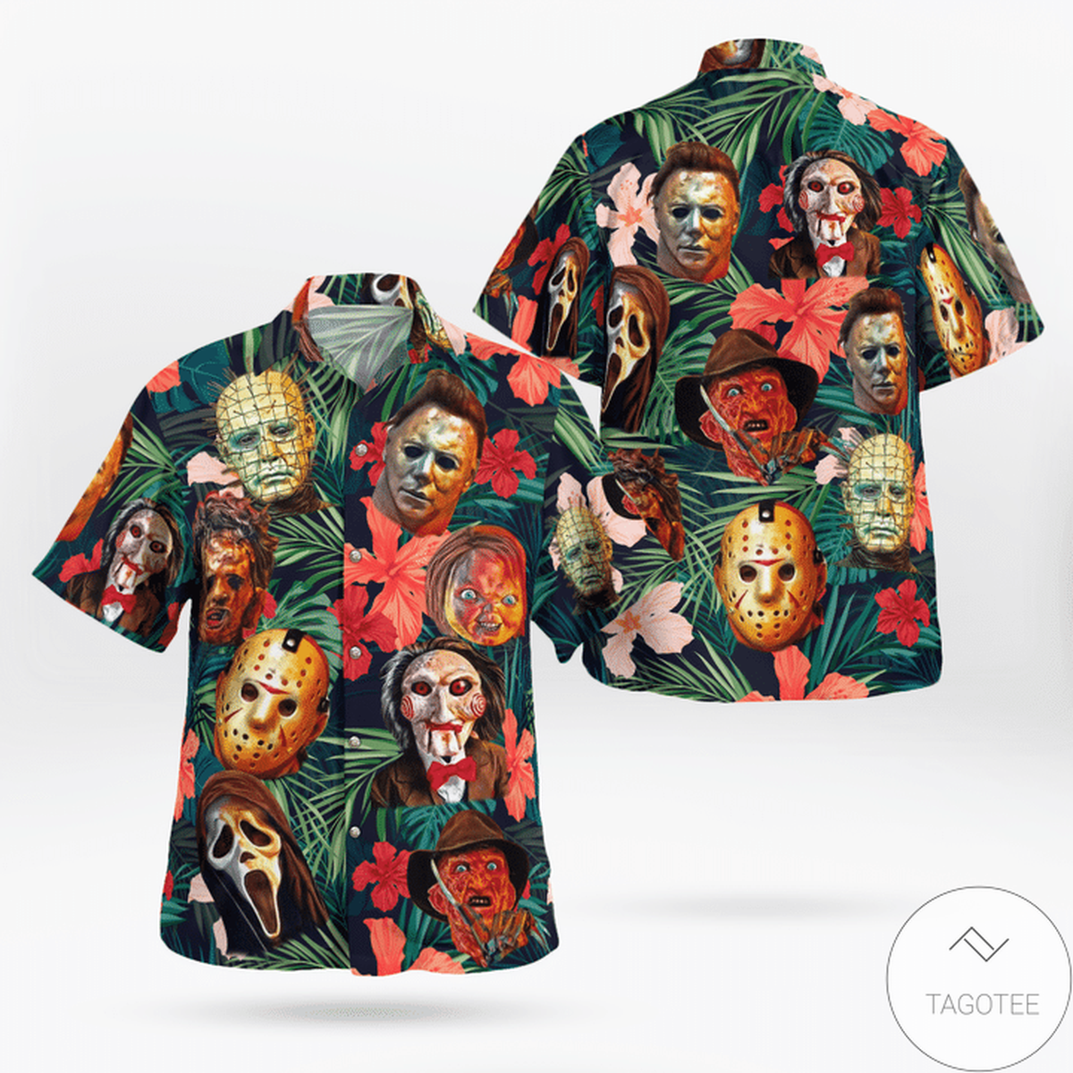 New Famous Horror Characters Hawaiian Shirt