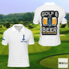 Finland Golf And Beer That's Why I'm Here Golf Polo Shirt
