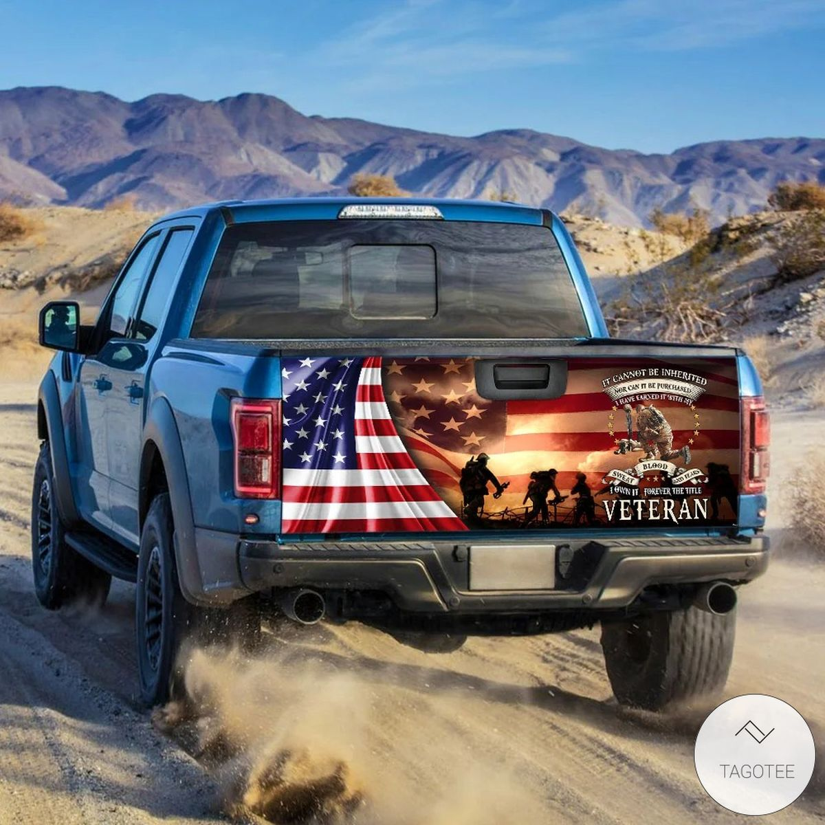 Forever The Title Veteran It Cannot Be Inherited Nor Can It Be Purchased I Have Earned It With My Blood Sweat And Tears Tailgate Wrapz