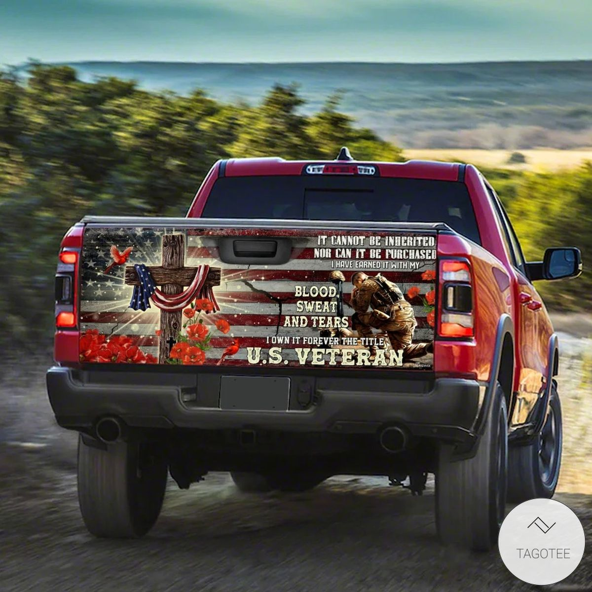 Forever The Title Veteran Truck Tailgate Wrapx