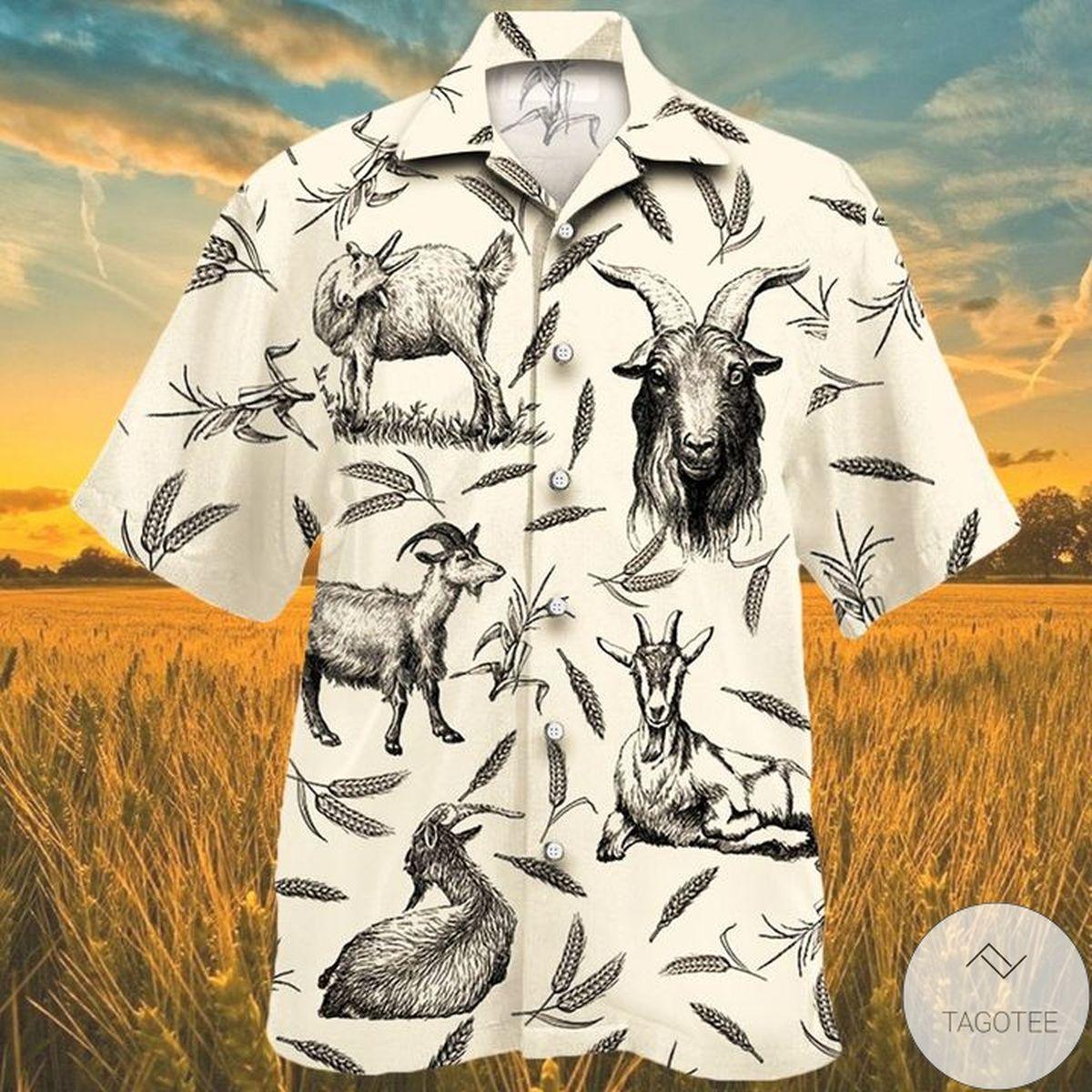 Goat Farm Lovers Hawaiian Shirt